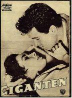 """***Das neue Film-Programm von ca. 1956  -  """"Giganten""""  -  Mit James Dean , Elizabeth Taylor"""