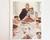 Norman Rockwell - Norman Rockwell Print - Copy of Norman Rockwell Print - Freedom From Want - Norman Rockwell Poster - Rockwell Reprint