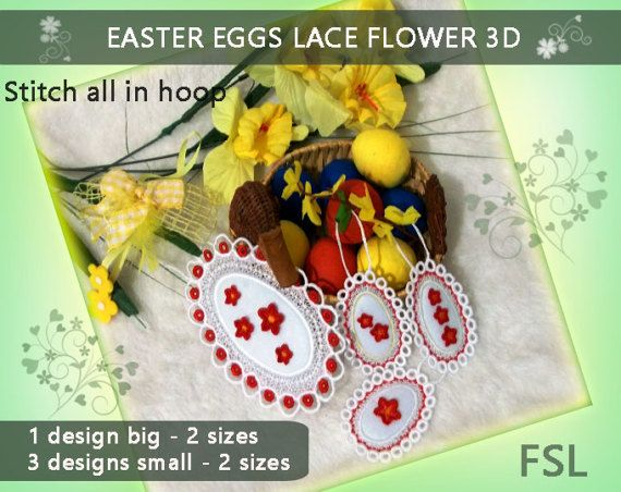 Easter eggs lace  No.299  for door and window  by EmbroideryRady