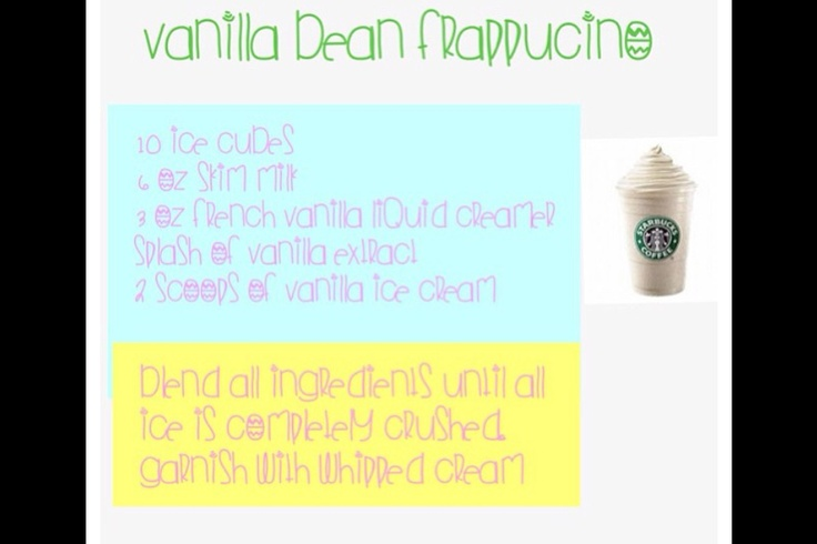 Secret Starbucks recipes