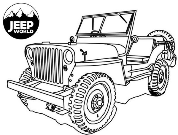 Jeep Coloring Pages Printable In 2020 Jeep Art Safari Jeep