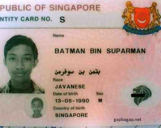 Funny Pictures Of Top 3 Most Bizarre And Funny Identity Cards
