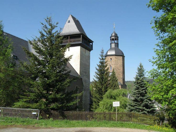 St. Laurentiuskirche und Wachtturm in Geyer, 02.05.09