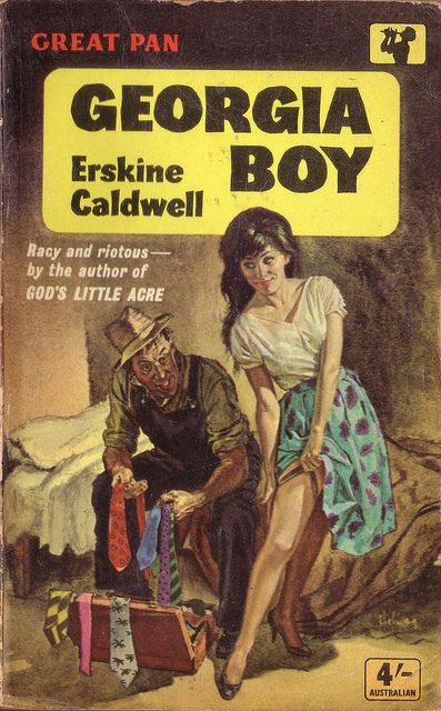 Best Book Cover Artists ~ Georgia boy by erskine caldwell pan cover artist