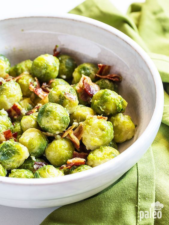 Warm Brussels sprout salad with mustard vinaigrette goes great with just about…