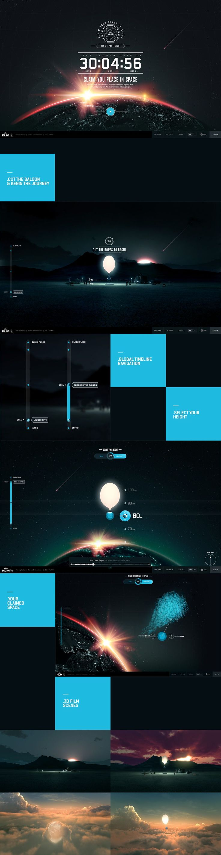 KLM Space -- space, countdown, visual, timeline
