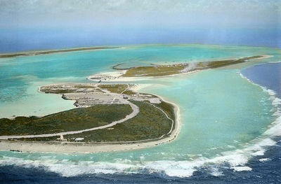 Smallest island I've ever been on.  Alot of stuff hit the fan here for it being such a tiny place in the middle of the ocean - Wake Island.