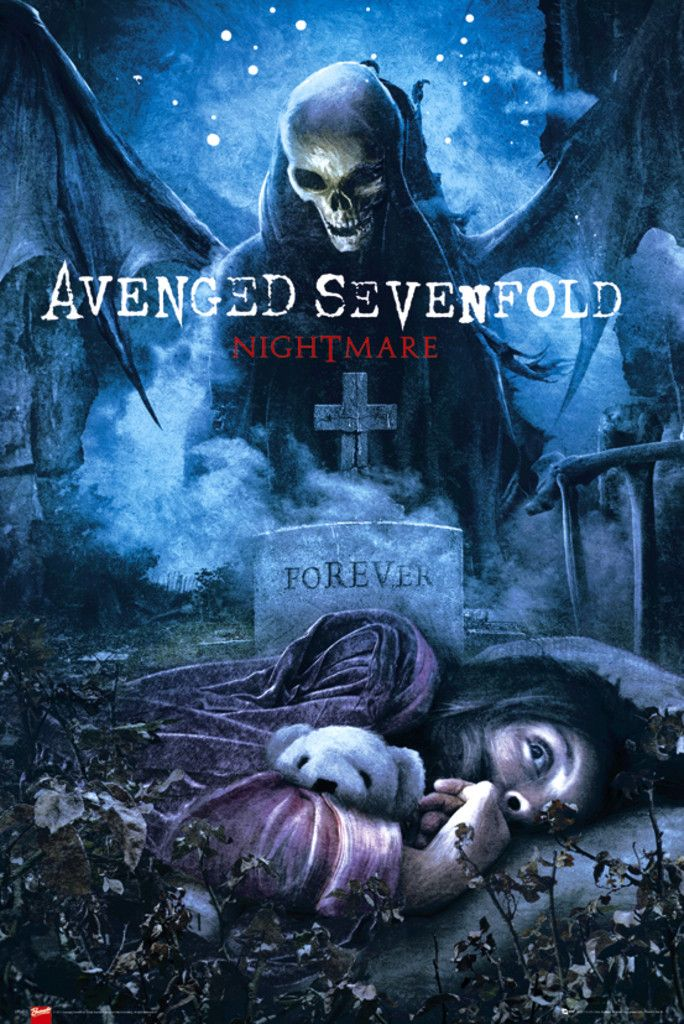 Avenged Sevenfold Nightmare - Official Poster. Official Merchandise. Size: 61cm x 91.5cm. FREE SHIPPING