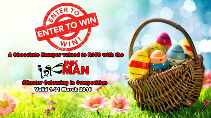 !WIN! A Chocolate Hamper valued to R150 with the INKman #Easter Colouring in Competition http://bit.ly/1QQ8Sp2