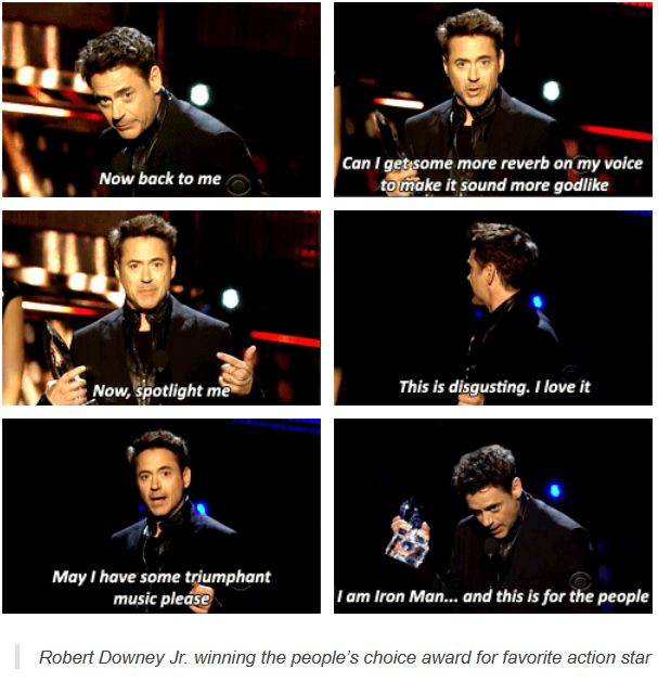 And this is the reason I adore Robert Downey Jr.
