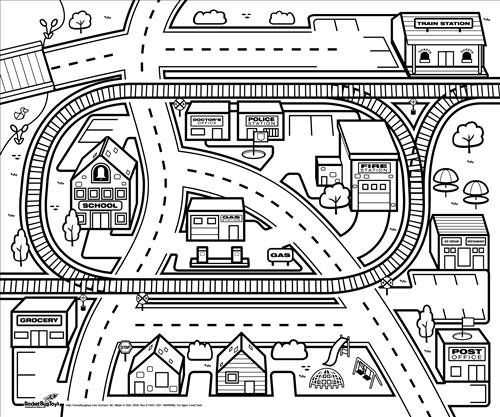 city map coloring pages lego