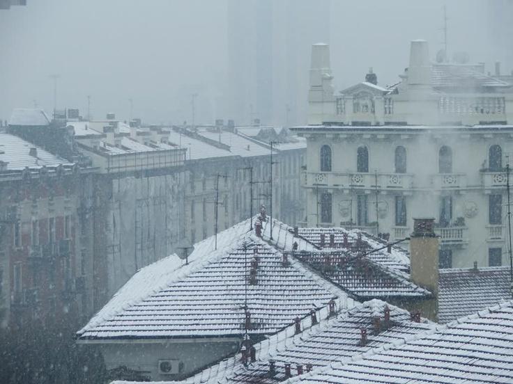 Snow on Milano Isola