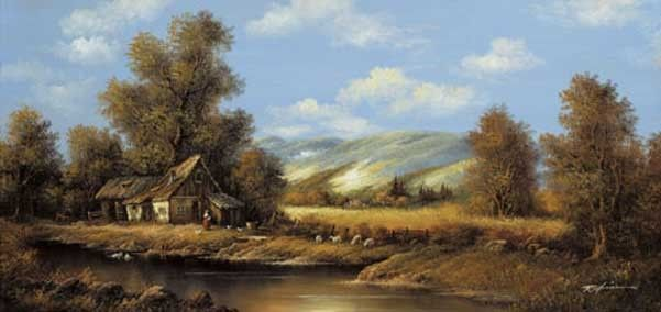 Dit is de boerderij waar Cameron en zijn moeder leven. Er is ook een buur. Hij noemt dhr. Sinclair, hij is de huisbaas.