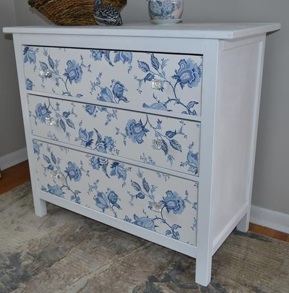 ikea hack, decoupage, painted furniture
