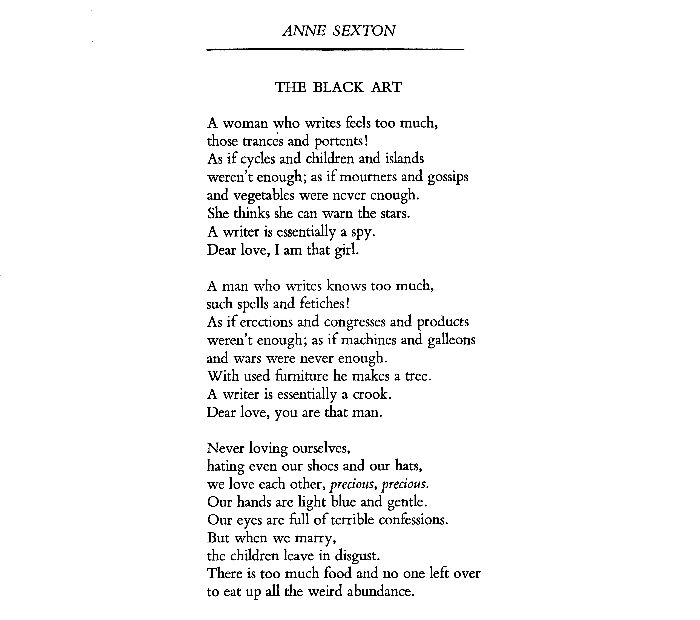 a literary analysis of briar rose by anne sexton Sleeping beauty , or little briar rose , also titled in english as the sleeping  beauty  least, since in none of the teutonic myths, meaning the poetic and  prose eddas or  briar rose (sleeping beauty) (1971), a poem by anne sexton  in her.