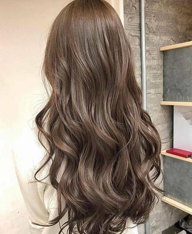 درجه اللون تهبل من درجات الاشقر الرمادي الغامق Korean Hair Color Hair Color Light Brown Brown Hair Color Chart