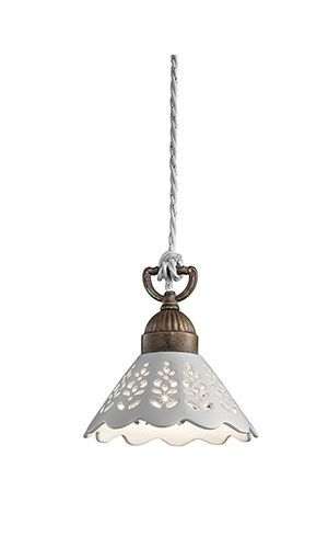 Pendant light to go in my dream kitchen, with matching 3 pendant light for over banquette :) Fiori di pizzo | Indoor suspension lamps, appliques, ceiling lamps and table lamps made of brass and ceramic