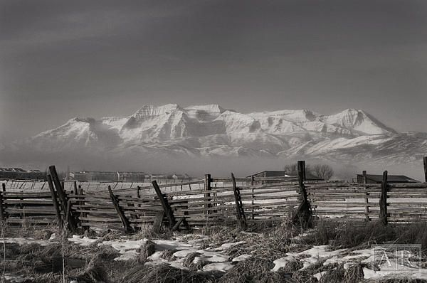 This is a back view of the Timpanogus mountain range taken from Heber Valley, Utah