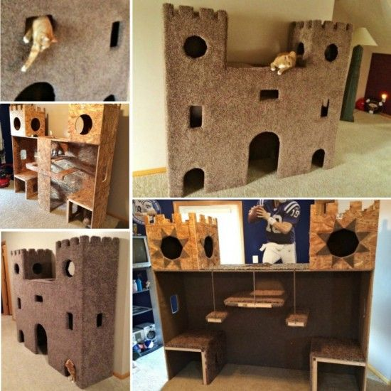 Cat Castle  This Would Be Really Fun To Make For The Kitties!