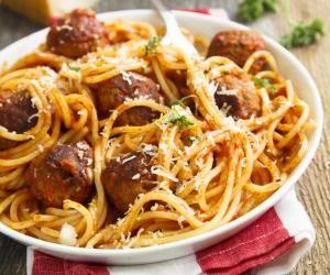 Masové kuličky se špagetami