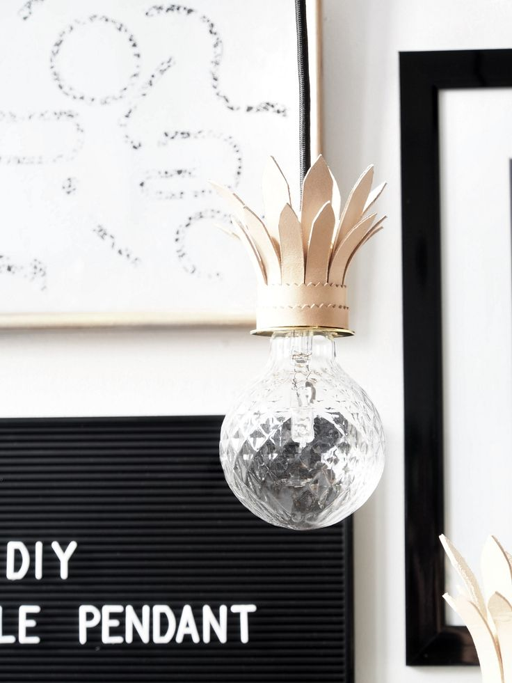 DIY Tropical Pendant Lights. The best fruit for interior impact is just deliciously gorgeous. Make these leather pendants!