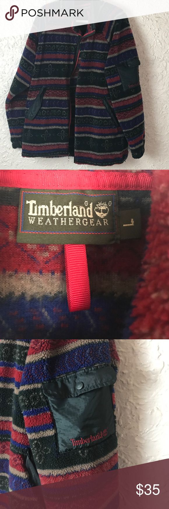 Authentic Timberland Weather Gear  Jacket size L This jacket is everything! First of all , it's super warm. It has pockets on the inside and outside and also a sleeve pocket. How dope is that?!?!? It has a sturdy zipper and looks amazing! Timberland Jackets & Coats Performance Jackets