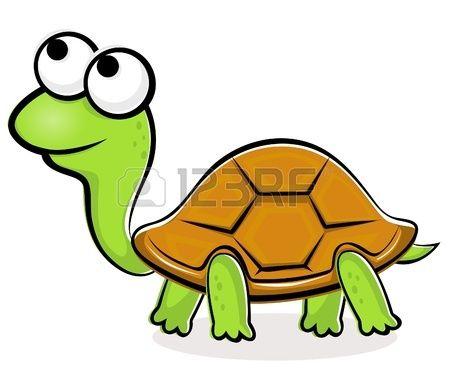 Illustratie van grappige vector schildpad Stockfoto