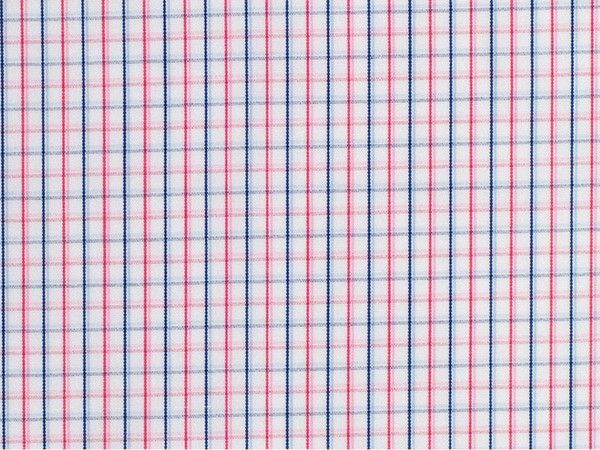 Pink, Rose, Light Blue, and Navy Gun Club Checked Cotton
