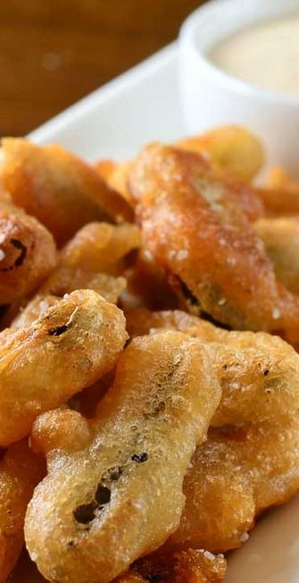 Pickle Fries with Cajun Dijon Dip: Appetizers Snacks, Dijon Dips, Dips ...