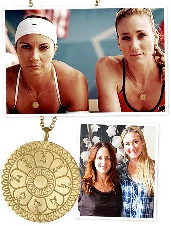 3 Time Olympic Beach Volleyball Gold Medalist Misty May-Treanor and Kerri Walsh Jennings personalized gold amulets from Me & Ro
