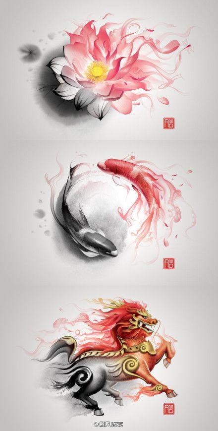 Beautiful, flowing shape. I love Chinese art.