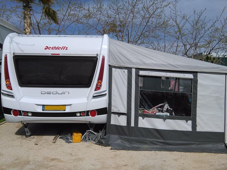 Immaculate 2013 Model Dethleffs Beduin 760 Caravan with '4 Seasons' German made DWT Zelte Awning. Currently parked on Camping Almafra Caravan Park, near to Benidorm, Albir & Altea. …