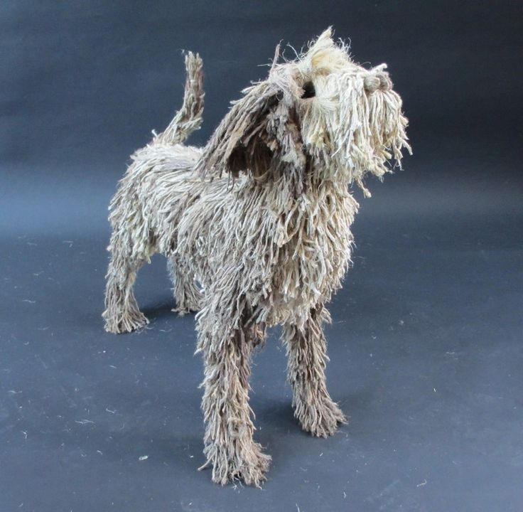 Dogs in Art at the StockBridge Gallery - Standing Mop Dog Sculpture by Dominic Gubb, Price upon application (http://www.dogsinart.com/standing-mop-dog-sculpture-by-dominic-gubb-1/)