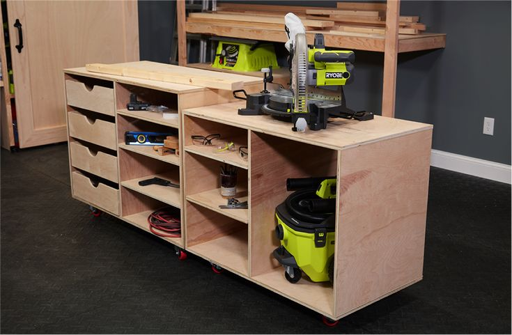 #DIY storage shelves / support carts by Ana White. Download plans at RYOBI Nation's Dream Workshop.