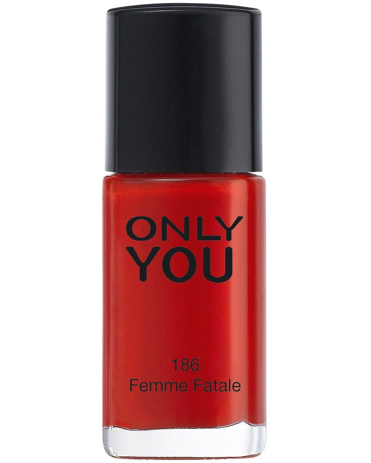 NAGELLAK ONLY YOU - 186 Femme Fatale - Deze verblindende rode nagellak waarvoor meerderen zullen vallen moeten we niet meer voorstellen!