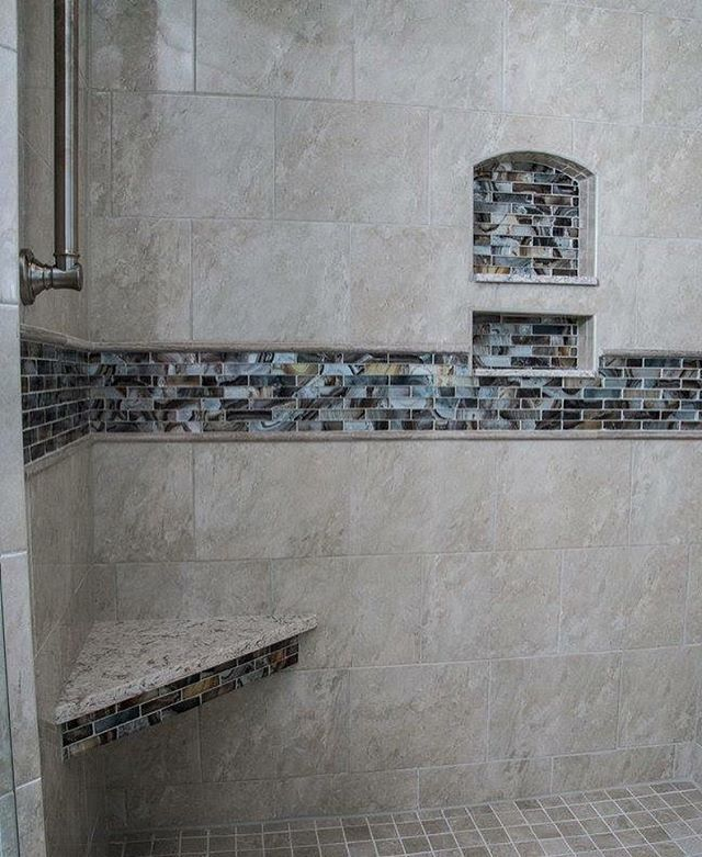 Corner Bench Seat For Master Shower We Use The Matching Quartz