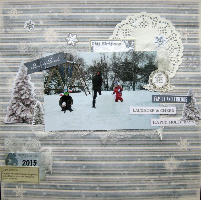 Gnistrande snö... - http://kristinasscrapbookingblogg.se/gnistrande-sno/ - Hej!  Ja, vintern närmar sig... Och jag blir ju så otroligt sugen på att scrappa alla dessa fina papper som kommer nu till jul. Och bäst är väl att passa på att scrappa bilderna från förra årets snö innan det kommer ny :) .        Materiallista:  Reprint- Dear Santa Collection- Stars  ...