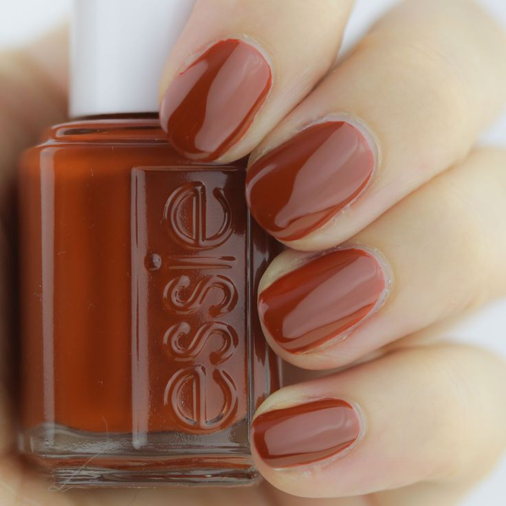 Best 25 orange nail ideas on pinterest orange nail art kinda loving this rusty orange nail color prinsesfo Images