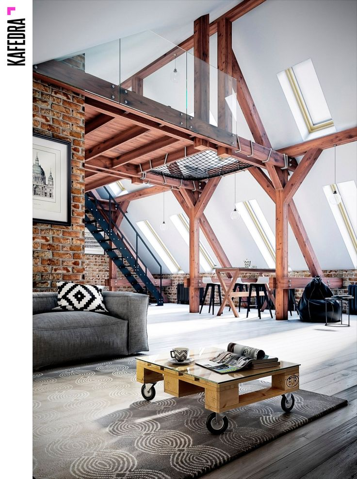 Визуализация в стиле loft  от нашего ученика Романа Покровского