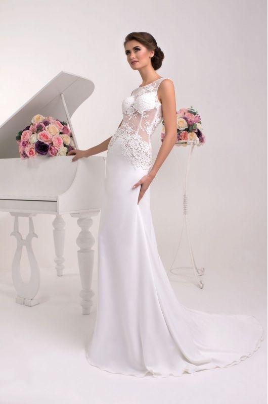 Svadobné šaty - rovný strih