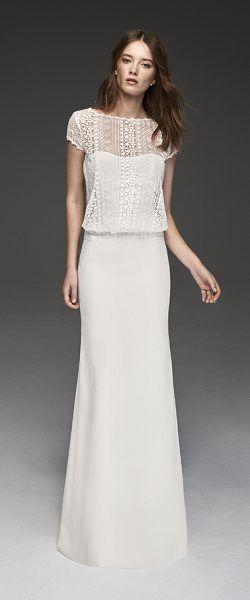 gefunden bei Happy Brautmoden Brautkleid elegant, elegantes Brautkleid, Alma Nov…