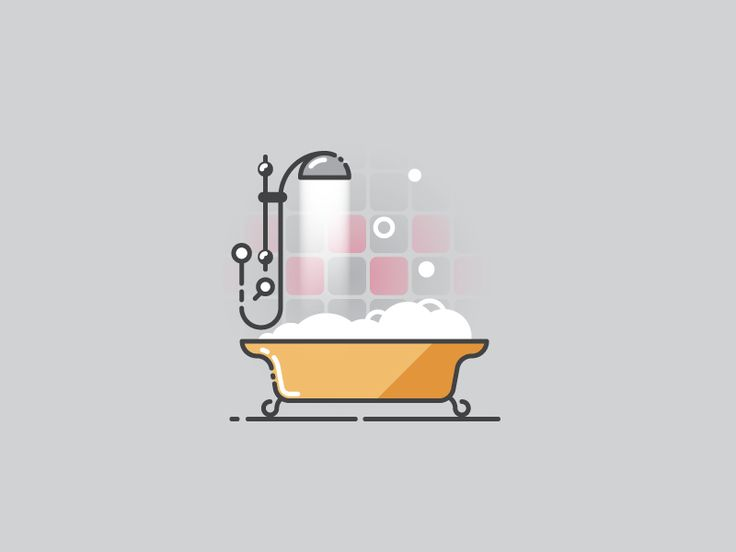 Time to have a bath - Infographic Template