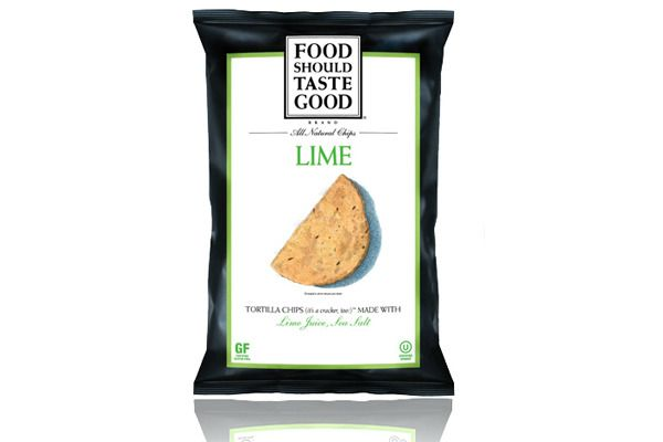Lime Tortilla Chips @foodshouldtastegood...what a good snack (and a healthier chip)