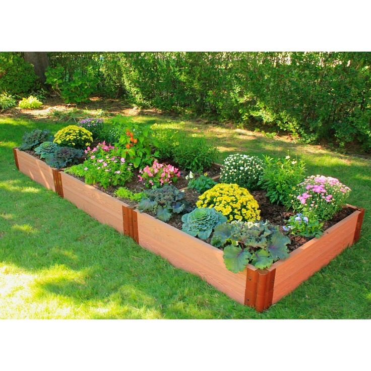 Frame It All Two Inch Series 4 Ft. X 12 Ft. Composite Raised Garden Bed    The Home Depot