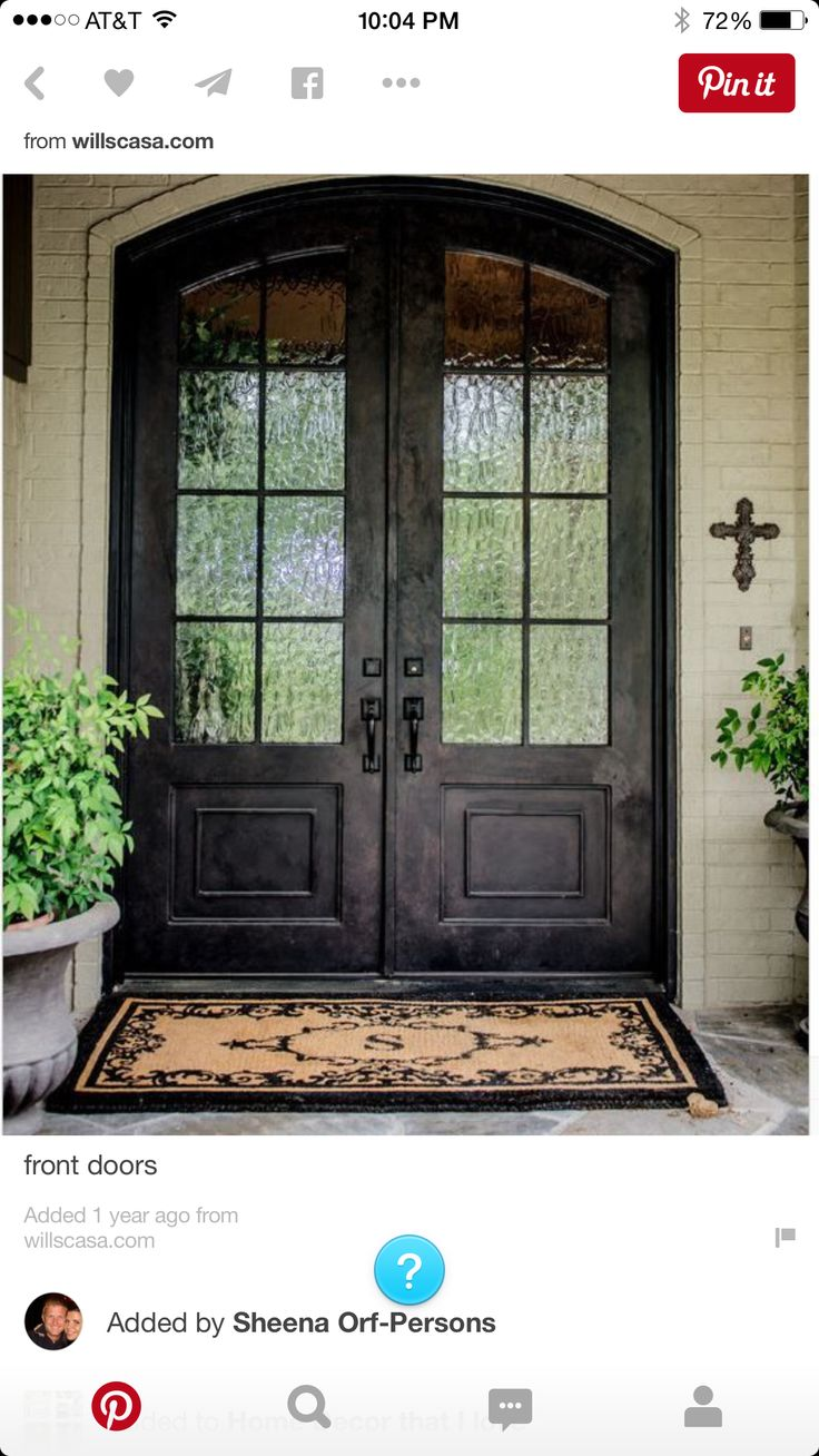 24 best Front doors images on Pinterest | Double entry doors ... Double Front Entry Doors Exterior on front screen doors home depot, main entry doors exterior, front entry columns exterior, front double door texture,