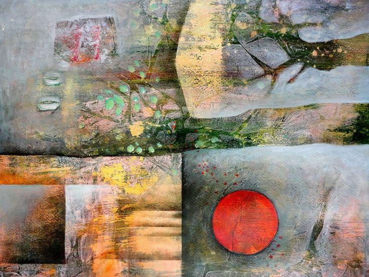 Acryl Techniken kombinieren Nr 2 Combining acrylic techniques Nr 2