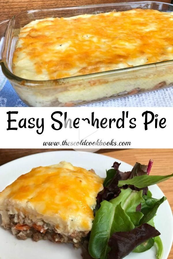 Easy Shepherd S Pie In 2020 Beef Recipes Easy Ground Beef Recipes Easy Beef Recipes Easy Quick