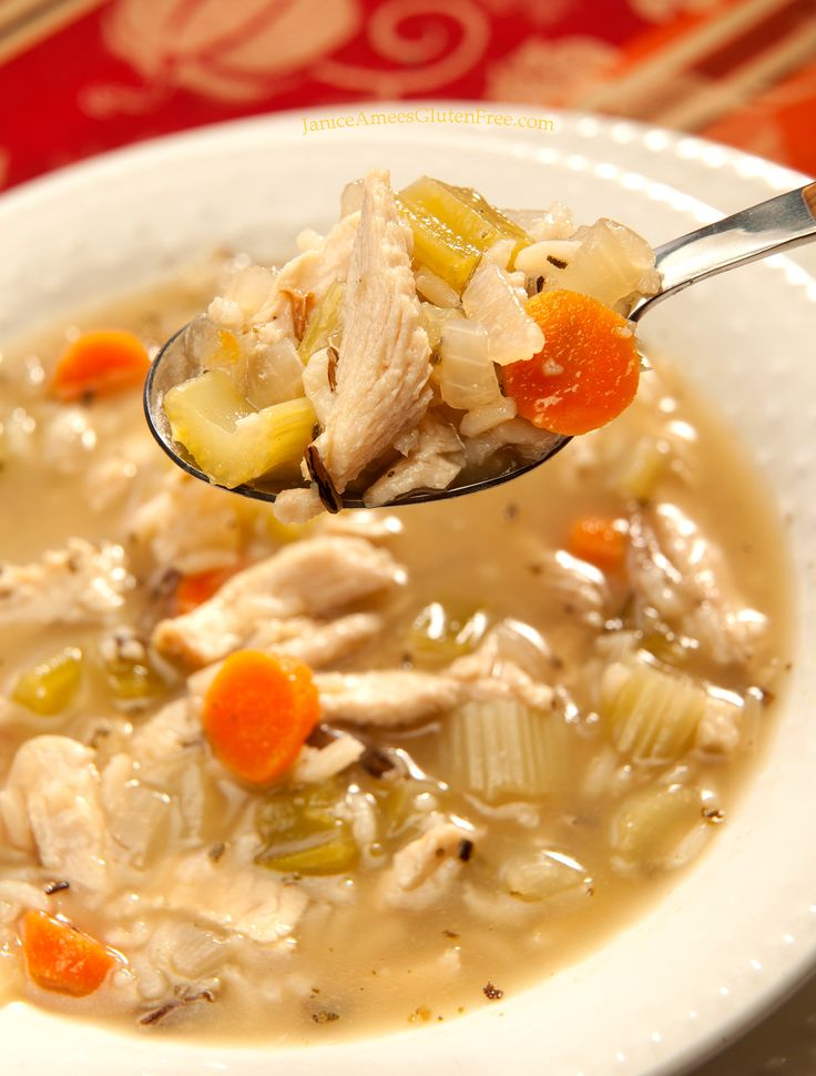Gluten Free Turkey and Wild Rice Soup by Janice Amee's Gluten Free... perfect for the leftover Thanksgiving turkey!