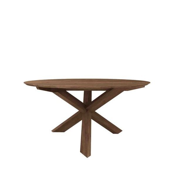 table ronde teck massif circle | room