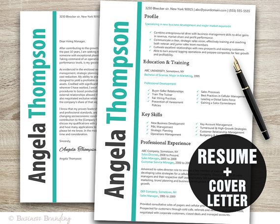 Instant Download Modern Resume Template and by BusinessBranding, $15.00